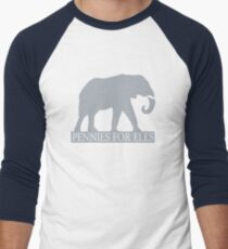 Pennies for Eles - Salvation through Conservation Men's Baseball ¾ T-Shirt