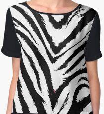 Zebra skin Women's Chiffon Top