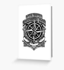 Nautical Fare Winds and Following Seas Compass Anchor Greeting Card