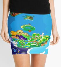 Paper Mario World Mashup Poster Mini Skirt