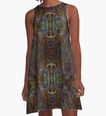 Dark Matter Abstract Psychedelic  A-Line Dress
