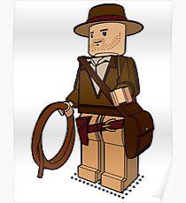 Lego Indiana Jones Harrison Ford Adventure Treasure Poster