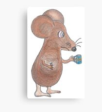 Mouse Don't Care Metal Print