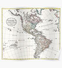 America - Mannert - 1796 Poster