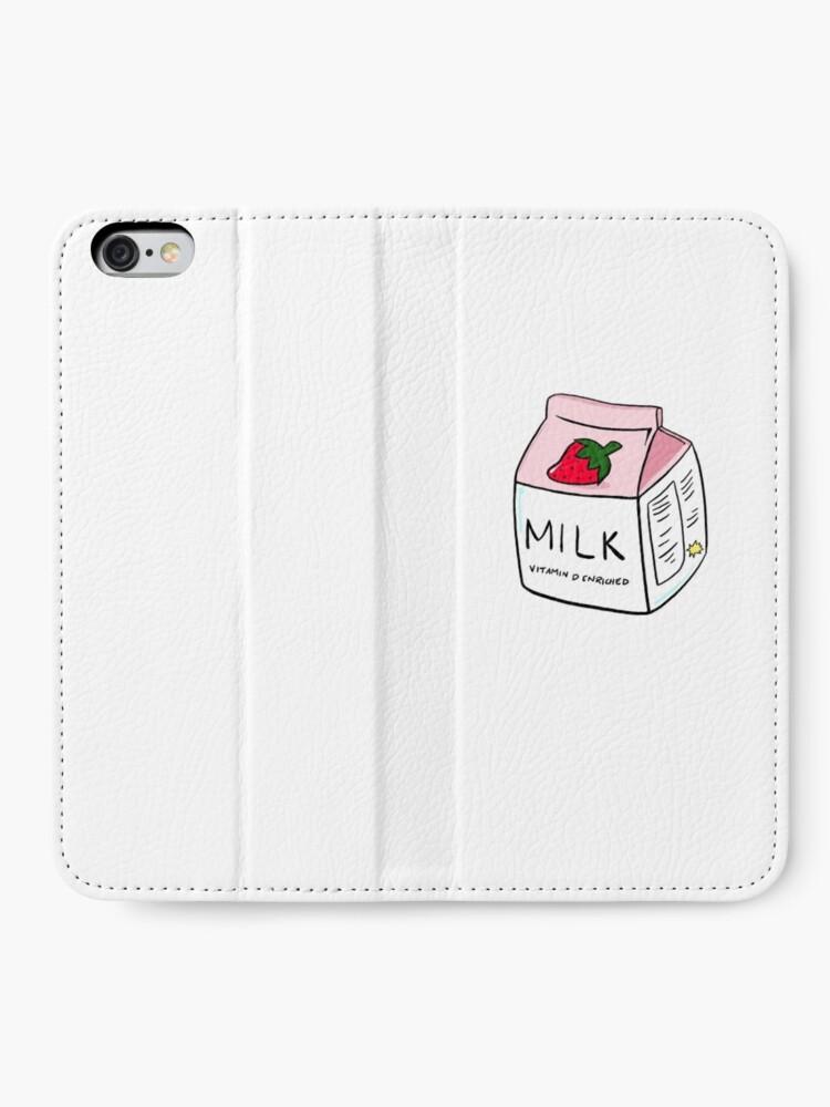 Alternative Ansicht von Erdbeermilch iPhone Flip-Case