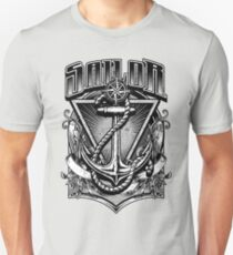 Vintage Nautical Sailor with Anchor and Rope Unisex T-Shirt