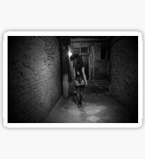 night wandering - black and white - high resolution Sticker