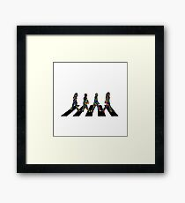 Groovy Beatles in the Crosswalk Framed Print