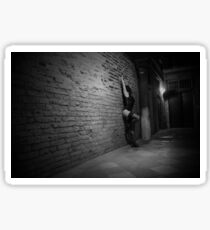 Night wandering 2 - black and white high resolution Sticker