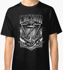 Vintage Nautical Captain with Anchor and Rope Classic T-Shirt