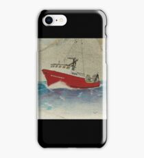 WINDJAMMER Trawl Fish Boat Cathy Peek Nautical Chart Map iPhone Case/Skin