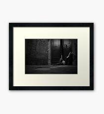 night wanderer - black and white Framed Print