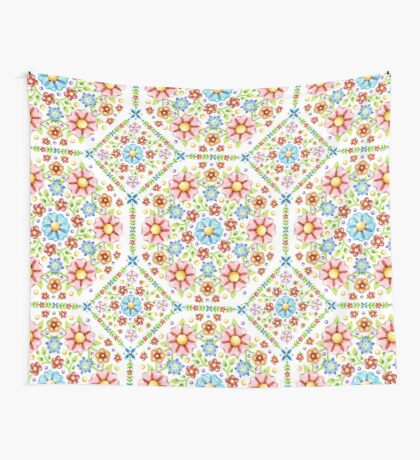 Millefiori Floral Pattern Wall Tapestry