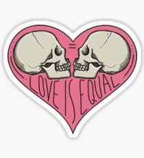 Love Is Equal LGBTQIA Pride Sticker
