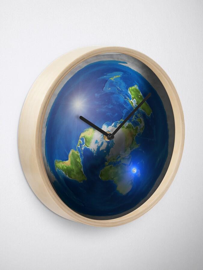 Alternate view of Flat Earth with Sun, Moon & Polaris Clock