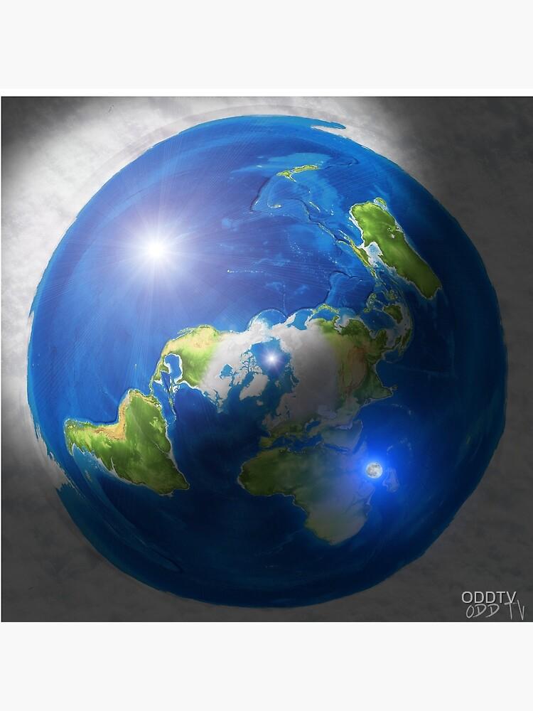 Flat Earth with Sun, Moon & Polaris by ODDTV