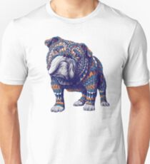 English Bulldog (Color Version) Unisex T-Shirt