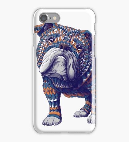 English Bulldog (Color Version) iPhone Case/Skin