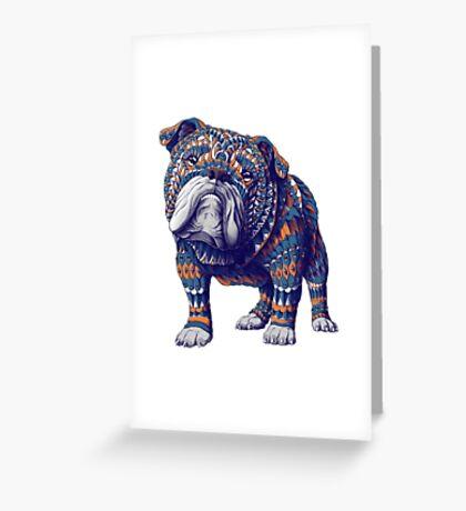 English Bulldog (Color Version) Greeting Card