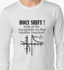 Holy Shift Look Asymptote That Mother Function black Long Sleeve T-Shirt