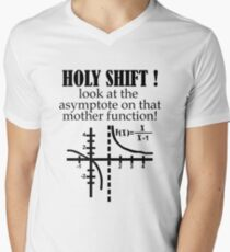 Holy Shift Look Asymptote That Mother Function black Men's V-Neck T-Shirt