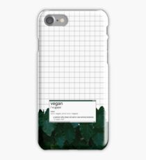 vegan (noun)  iPhone Case/Skin
