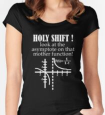 Holy Shift Look Asymptote That Mother Function white Women's Fitted Scoop T-Shirt