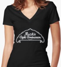 Rick's Cafe Americain - Casablanca Women's Fitted V-Neck T-Shirt