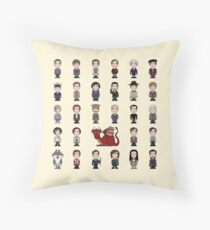 A Field Guide to the Common Cumberbatch (pillow/bag) Throw Pillow