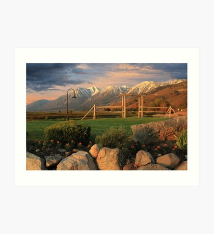 Sunrise In Carson Valley Art Print