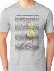 bee movies script Unisex T-Shirt