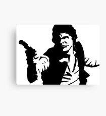 Han Solo Star Wars Abstract Canvas Print
