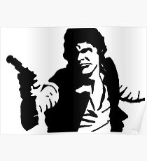 Han Solo Star Wars Abstract Poster