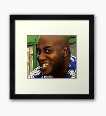 Ainsley and his spicy meat Framed Print