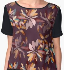 Autumn colors foliage print  Women's Chiffon Top