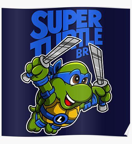 Super Turtle Bros - Leo Poster