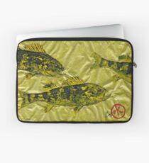 Gyotaku - Yellow Perch - Walleye Laptop Sleeve