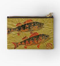 Gyotaku - Yellow Perch - Orange Roughy Studio Pouch
