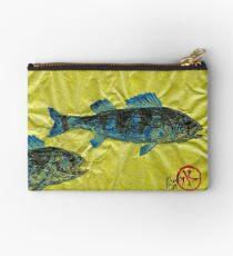 Gyotaku - Yellow Perch - Bluefish Studio Pouch
