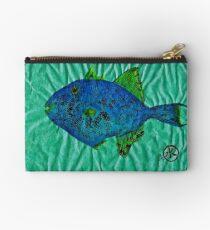 Gyotaku - Triggerfish - Queen Triggerfish Studio Pouch