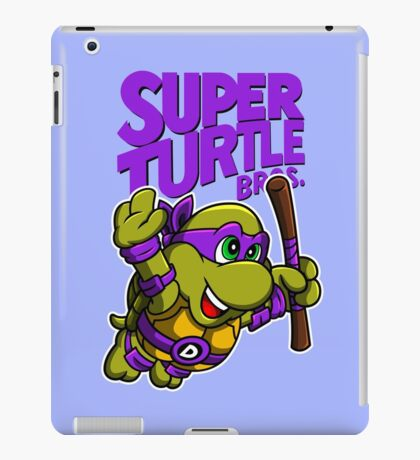 Super Turtle Bros - Donnie iPad Case/Skin