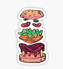 soft cheeseburger Sticker