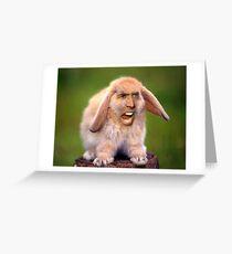 Nicolas Cage/Rabbit Greeting Card