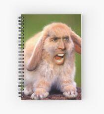 Nicolas Cage/Rabbit Spiral Notebook