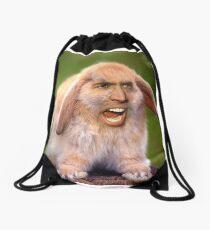 Nicolas Cage/Rabbit Drawstring Bag