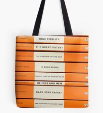 Book Spine Graphic Shirt Tote Bag
