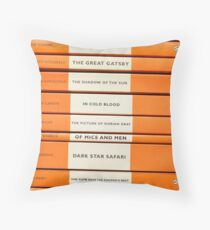 Book Spine Graphic Shirt Throw Pillow