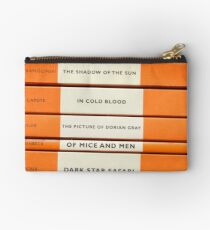 Book Spine Graphic Shirt Studio Pouch