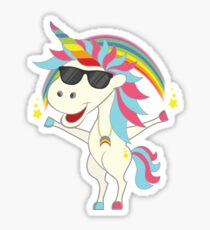 Crazy Unicorn - Cool Rainbow Sticker