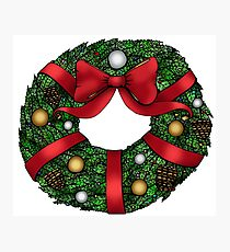 Christmas Wreath Photographic Print